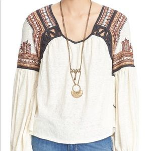 "Free people blouse ""snow kisses"""